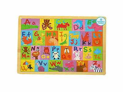 A To Z Wooden Jigsaw - NEW