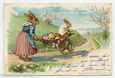 LAPINS humanisés . PAQUES . HAPPY EASTER . RABBITS . conejo . 兔 . ウサギ .Kaninchen