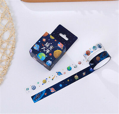 2 pcs/pack Planet Washi Tape DIY Scrapbooking Sticker Masking Tape