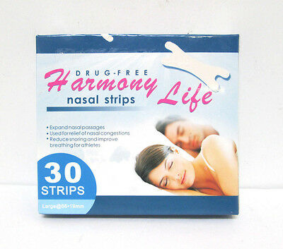 Harmony Life Drug-Free Nasal Strips - 30 Large strips [HB-A-H]