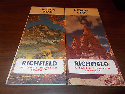 1966 Richfield Nevada/Utah Vintage Road Map