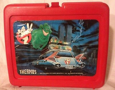 Ghostbusters 2 Plastic Lunch Box 1989 The Real Ghostbusters II