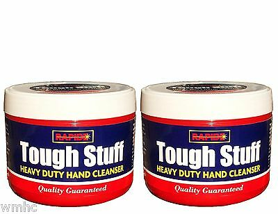 2x Tough Stuff Heavy Duty Hand Cleaner CLEANSER Removes Paint Grease Oil etc