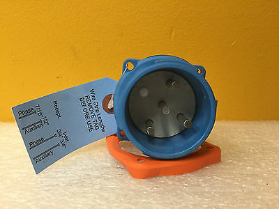 Meltric 33-18073, DS20, 20 A, 3P+G, 3 HP, 250 VAC, Type 3R, Inlet Plug, New!