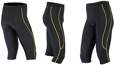 Mens Compression Shorts Trousers 3/4 Pants Base Layers Running Tights