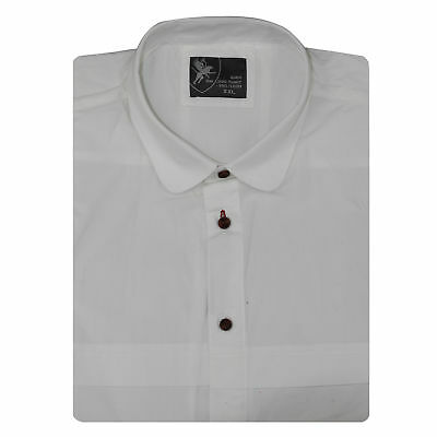 New Mens Big Size White Cotton Short Sleeve Casual Formal Button Shirt 2XL - 6XL