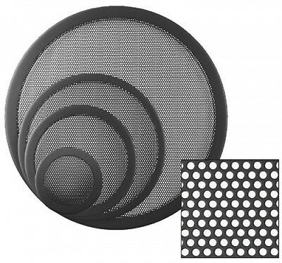 12 inch Speaker Grill. small round holes. Pair. UK MADE