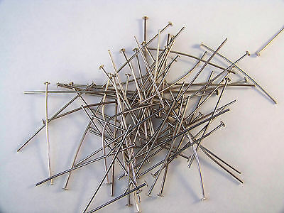 50Pcs  30 mm Silver Pins Chandelier Lamp Bead Prism Crystal Connector