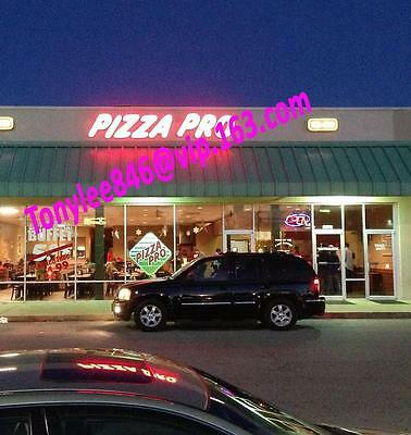 Custom size LED Backlit Channel Letter Sign Signboard Signage,led SIGN,PIZZA PRO