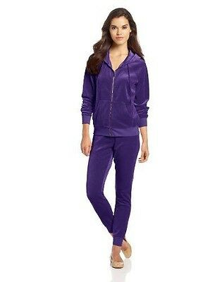 JUICY COUTURE RELAXED HOODIE AND SLIM PANT Velour Tracksuit SET new  L