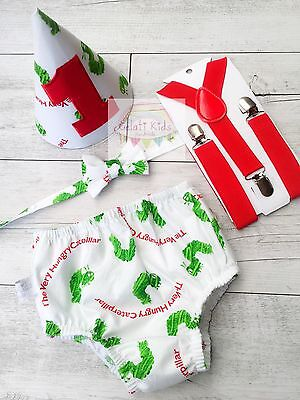 Very Hungry Caterpillar Cake Smash Set / 1st Birthday Outfit / Photo Prop