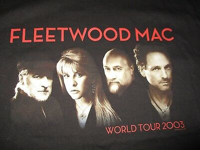 """2003 FLEETWOOD MAC """"WHAT'S THE WORLD COMING TO?"""" Tour (2XL) T-Shirt"""