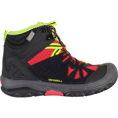 Merrell Capra Mid Waterproof Enfants Chaussures - Black Red Toutes Tailles