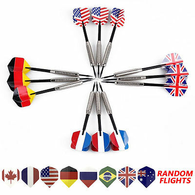 3pcs/Set Professional 90% Tungsten Steel Needle Tip Darts With 6 Dart Flights