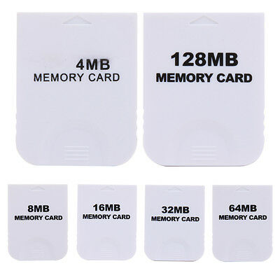 4MB 8MB 16MB 32MB Memory Card for Nintendo Wii NGC Gamecube Console Game White