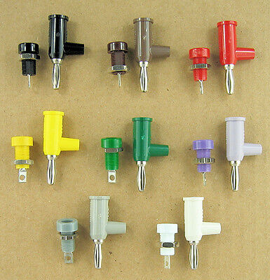Pomona 4mm Stacking Stackup Banana Plugs & Matching Jacks, 8 Colors, Panel Mount