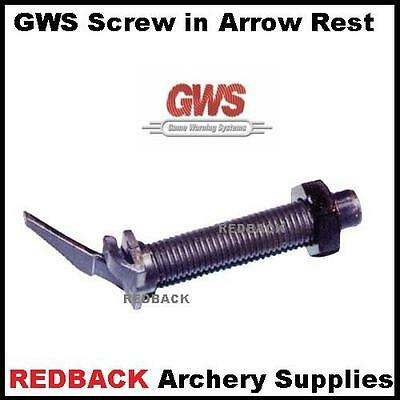 Pro Hunter GWS screw in RH arrow rest for archery hunting compound recurve bows