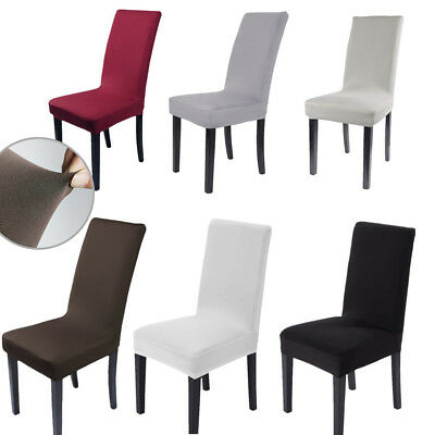 2/4/6/8 Slipcover Removable Dining Chair Seat Cover Elastic Spandex Lycra Party