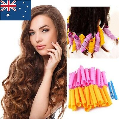 24pcs 55cm DIY Magic Hair Curler Leverage Curlers Formers Spiral Styling Rollers