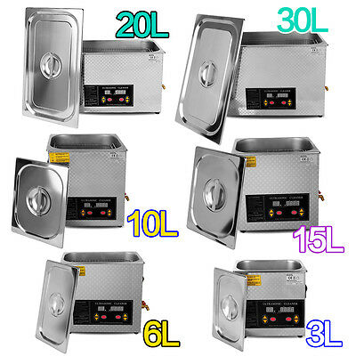Ce Digital Stainless Ultrasonic Cleaner Ultra Sonic Bath Cleaning Timer Heating