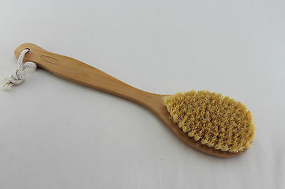 Natural Cactus Firm bristle exfoliate Dry/Wet Body Brush with 34cm Long  Handle