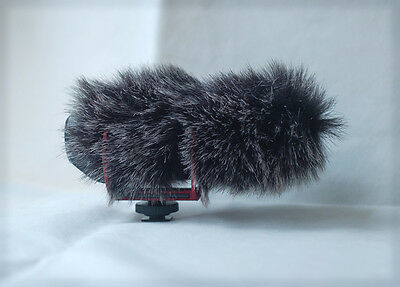 Fur Wind Shield Windscreen Reduce Wind Noise for Rode VideoMic GO Microphone