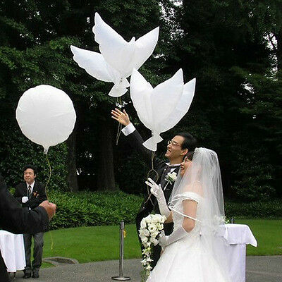 2Pcs Wedding Flying Pigeon White Peace Dove Foil Balloons For Party Decorations