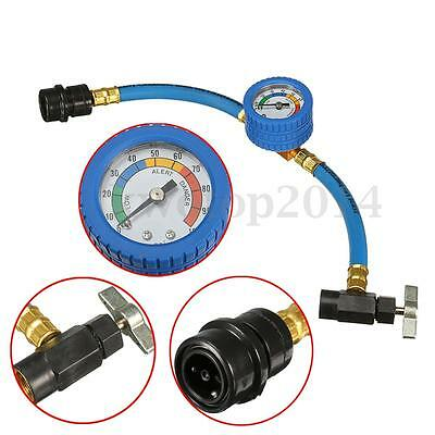 R-134a Recharge Measuring A/C Car Conditioning Gauge System Hose&Can Tap Opener