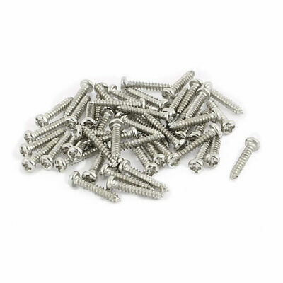 50pcs M1.5 x 10mm Stainless Steel Phillips Pan Round Head Self Tapping Screws