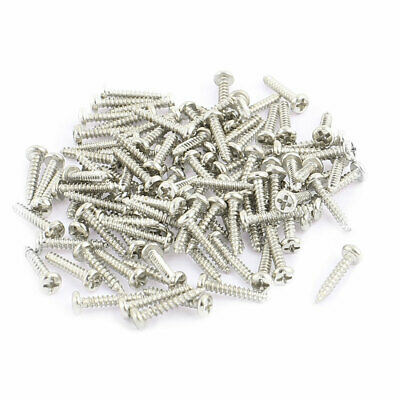 100pcs M1.5 x 8mm Stainless Steel Phillips Pan Round Head Self Tapping Screws