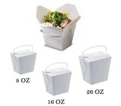 Noodle Boxes White Cardboard 16 Oz Noodle Box Pail Takeaway Containers