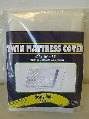 Twin Size Mattress Bag  Heavy Duty 2.5 Mil Vented Mattress Bag