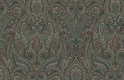Paisley Wallpaper Red Green Taupe Village 5806546 Double Rolls