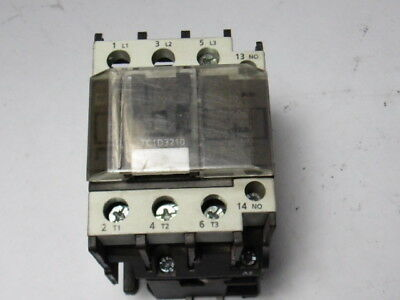 Shamrock Controls TC1-D3210-G7 Contactor 32A AC3 1N/O 120VAC Coil  USED