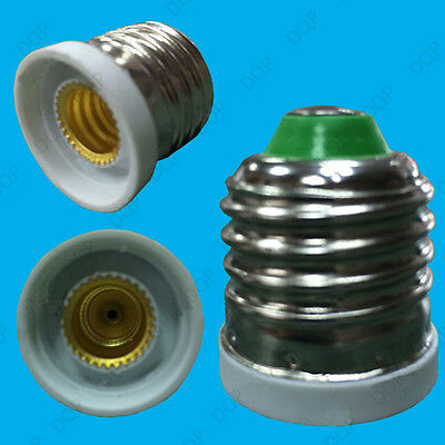 ES E27 to E12 Candelabra Edison Screw Light Bulb Socket Converter Adapter Holder
