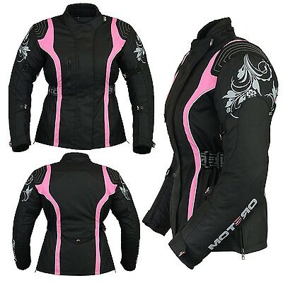 Ladies Women Motorcycle Motorbike  Armoured Waterproof Windproof Cordura Jacket