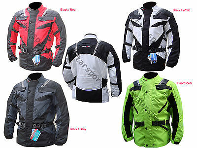 Men,s Motorcycle Motorbike Armoured waterproof Cordura Textile Jacket Collection
