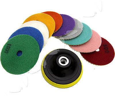 "11 x Diamond Polishing Pads 4"" Grinding Disc For Granite Marble Concrete Stone"