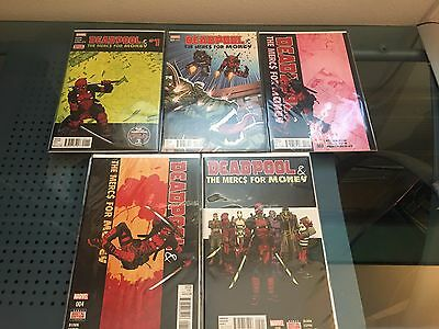 Deadpool The Mercs For Money 1-5 Marvel Comics Complete Set Wade Wilson X-Force