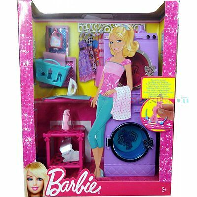 Mattel Barbie Glam Laundry Furniture Set - X7938 ** GREAT GIFT **
