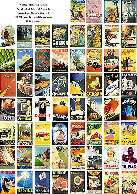Vintage Motoring  Posters -60 All Different A6 Art Cards