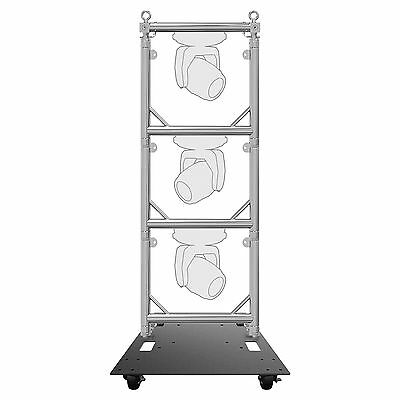 Global Truss 3 tier Lighting Quick Grid Sections + Baseplate w/ Wheels