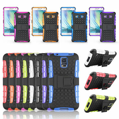 Shockproof Hybrid Rubber Hard Rugged Armor Stand Case Cover For Samsung Galaxy