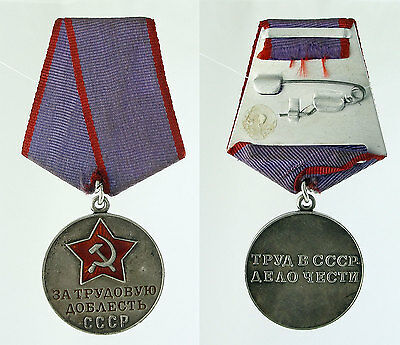 RUSSIAN Silver Medal For Valiant Labor