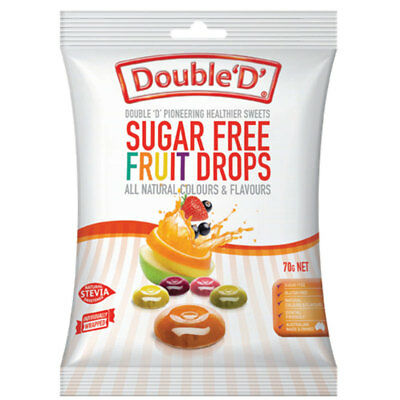 Double D Sugarfree Fruit Drops 70g