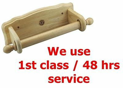 Wooden Kitchen Towel Roll Holder Dispenser Wood Wall Mounted