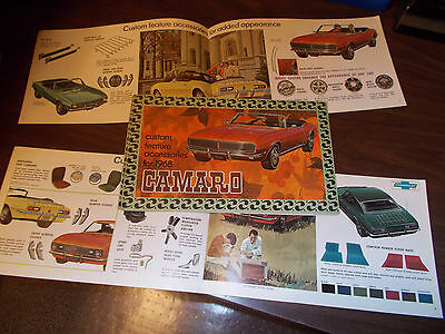 1968 Chevrolet Camaro Accessories Catalog / Original and Excellent Condition !!