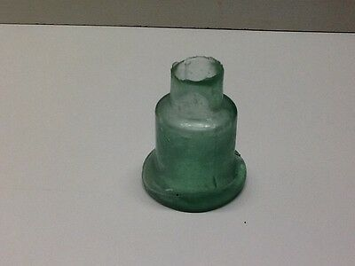 Crude Antique,  Bell Shaped Shear Top Inkwell. Open Pontil.