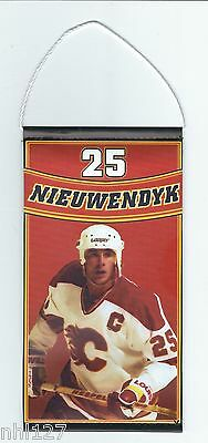 Calgary Flames NHL #25 Joe Nieuwendyk Commemorative Retirement Banner 3.7.2014