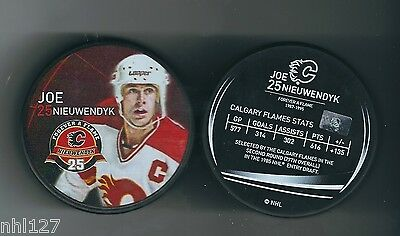 Calgary Flames NHL #25 Joe Nieuwendyk Commemorative Retirement Game Puck 3.2014